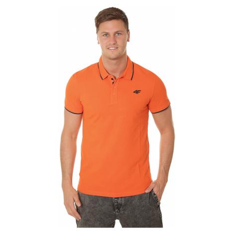 koszulka 4F H4L19-TSM024 Polo - 70S/Orange