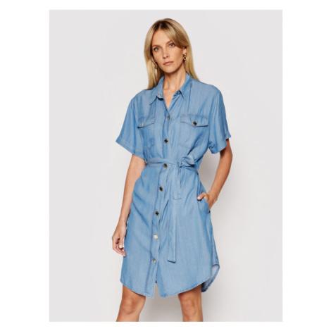 Pinko Sukienka jeansowa Chipo 1J10MP Y6X4 Niebieski Regular Fit