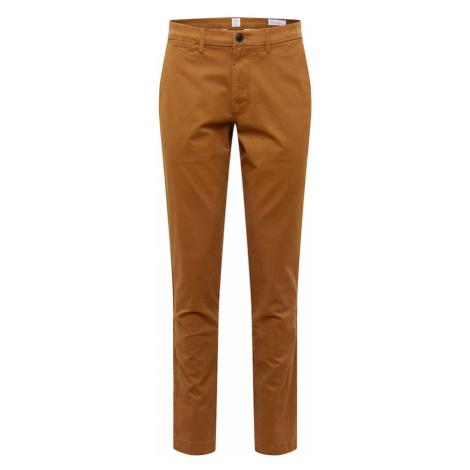 GAP Spodnie 'V-ESSENTIAL KHAKI SLIM FIT' brązowy