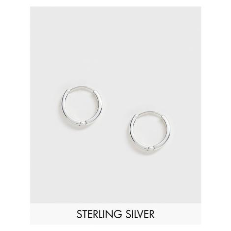ASOS DESIGN sterling silver chunky hoop earrings