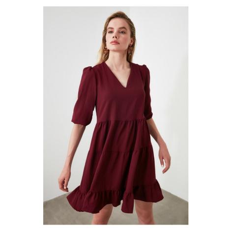 Women's dress Trendyol V neck