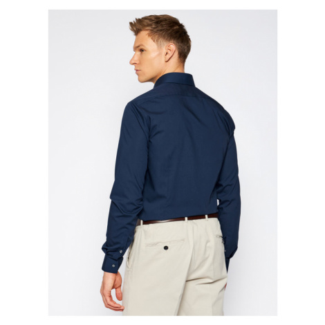 Calvin Klein Koszula K10K103025 Granatowy Slim Fit