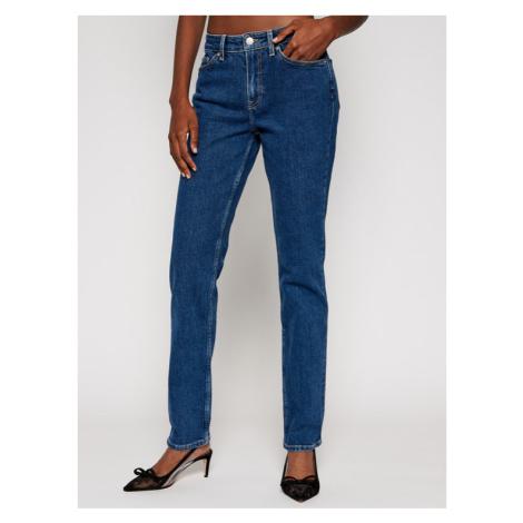 Tommy Hilfiger Jeansy Straight Leg Rome WW0WW28802 Granatowy Regular Fit