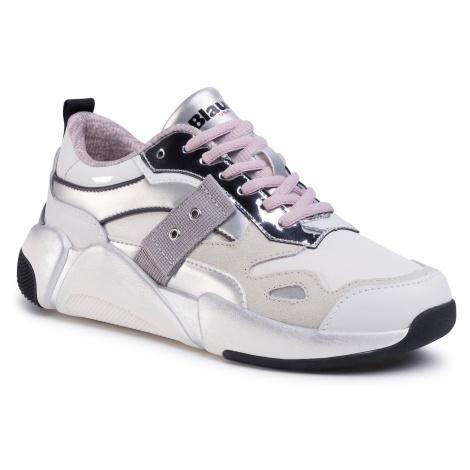 Sneakersy BLAUER - S0MONROE01/LEA Whs White/Silver