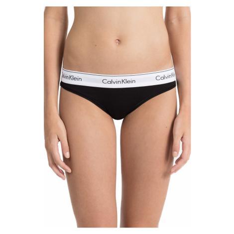 Calvin Klein czarne majtki z białą szeroką gumą Bikini Slip
