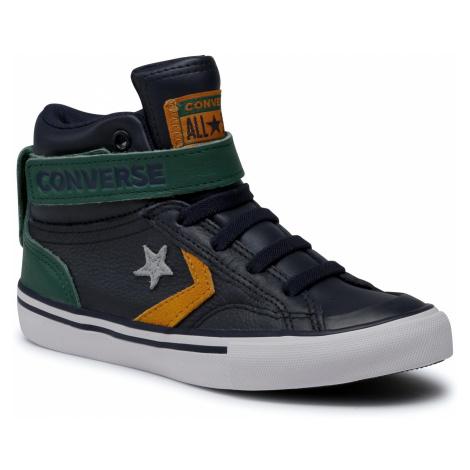 Sneakersy CONVERSE - Pro Blaze Strap Hi 668422C Obsidian/Midnight Clover