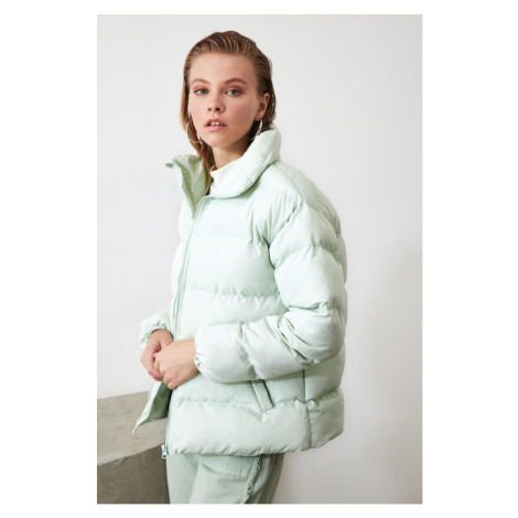 Trendyol Mint Upright Collar Inflatable Coat
