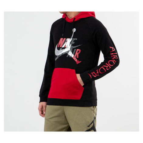 Jordan Jumpman Classics LTWT Fleece Pullover Hoodie Black/ Black/ Gym Red