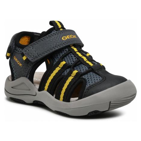 Sandały GEOX - J S.Kyle A J15E1A 014CE C0030 M Grey/Yellow
