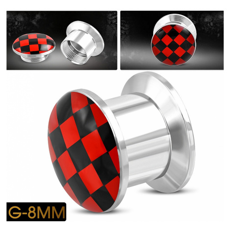 piercing Body Art TTB379 - Red Check