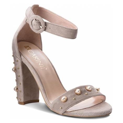 Sandały CARINII - B4409 G66-000-000-B16