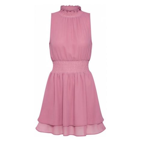 NA-KD Letnia sukienka 'Double Layer High Neck Smock Dress' różowy