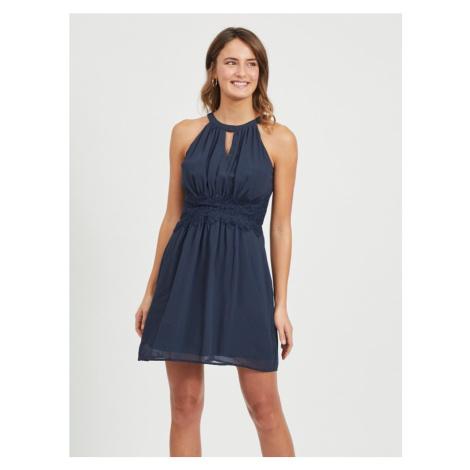 VILA Sukienka ciemny niebieski