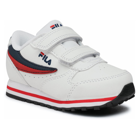 Sneakersy FILA - Orbit Velcro Infants 1011080.98F White/Dress Blue
