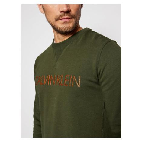 Calvin Klein Bluza Multi Embroidery K10K105719 Zielony Regular Fit