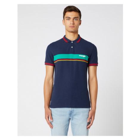 Wrangler Polo Koszulka Niebieski