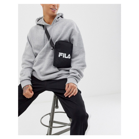Fila Prezza flight cross body bag with large logo in black