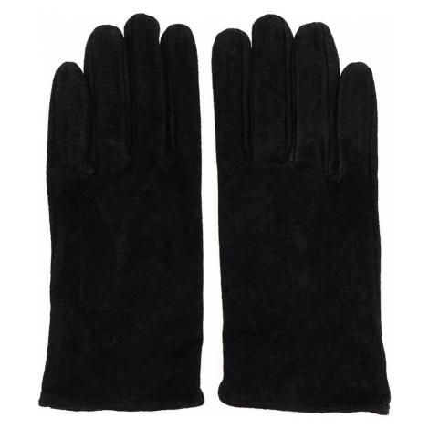 Czarne skórzane rękawiczki Pieces Comet