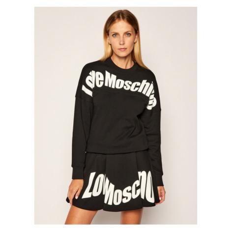 LOVE MOSCHINO Bluza W641901M 4055 Czarny Regular Fit