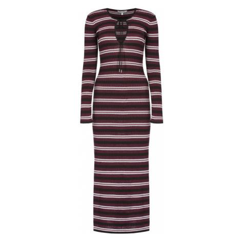 Tommy Hilfiger Sukienka dzianinowa ZENDAYA Lurex Stripe WW0WW26156 Fioletowy Slim Fit