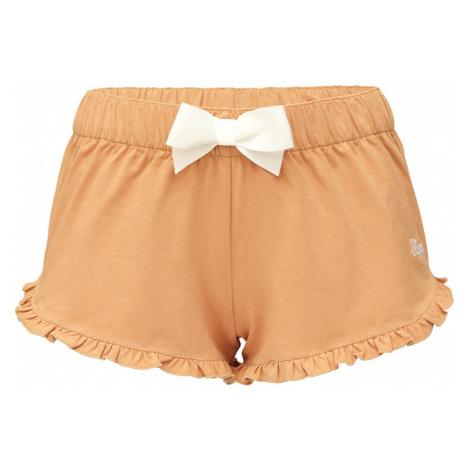Slippsy beżowe damskie szorty domowe Beige Shorts Girl