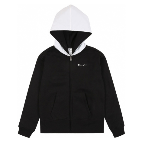 Champion Authentic Athletic Apparel Bluza rozpinana czarny / biały