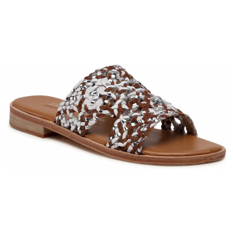 Klapki EMU AUSTRALIA - Kadina Tri W12454 Tan/Coconut/Tan/Blanc Coco