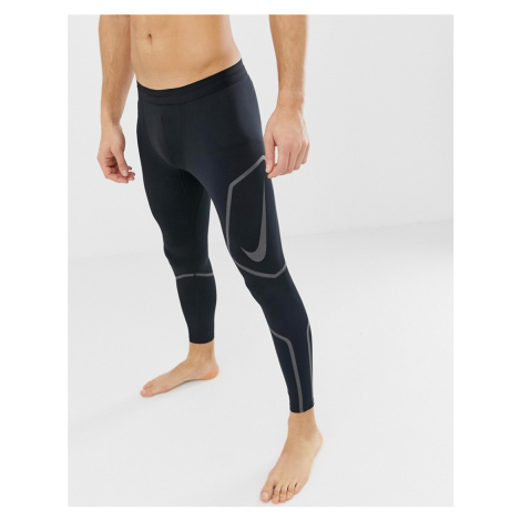Nike Running Tech Reflective Tights In Black AH7943-010