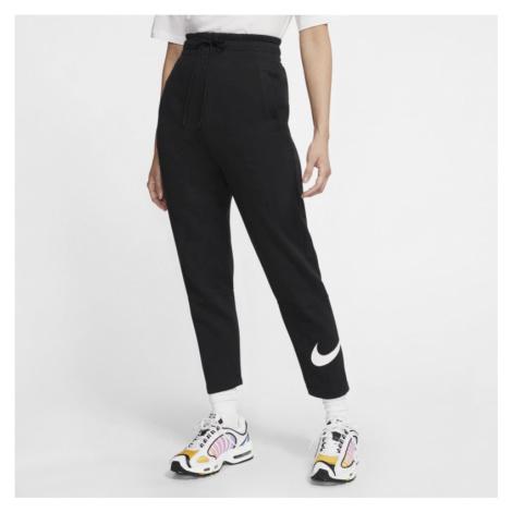 Damskie spodnie z dzianiny Nike Sportswear Swoosh - Czerń