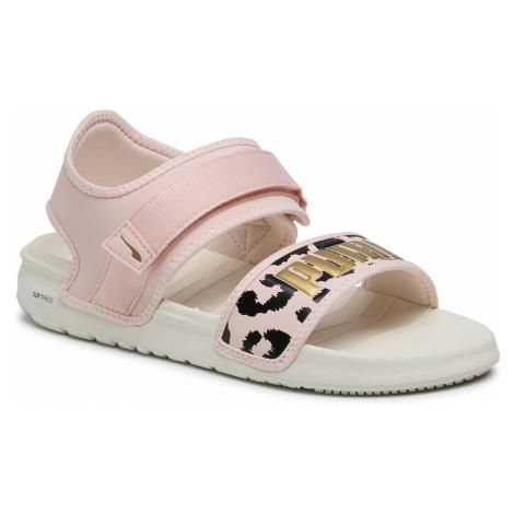 Sandały PUMA - Softride Sandal Wns Leo 380722 02 Marshmallow/Cloud Pink/Gold