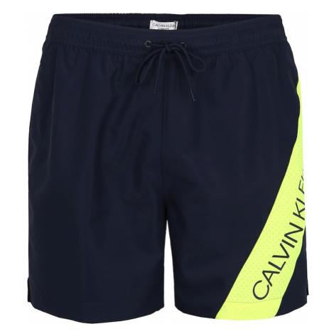 Calvin Klein Swimwear Szorty kąpielowe ciemny niebieski