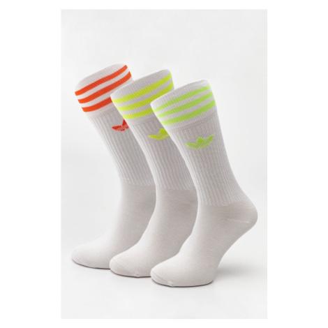 Skarpety 3Pack adidas Solid Crew Sock 625 White/white/white