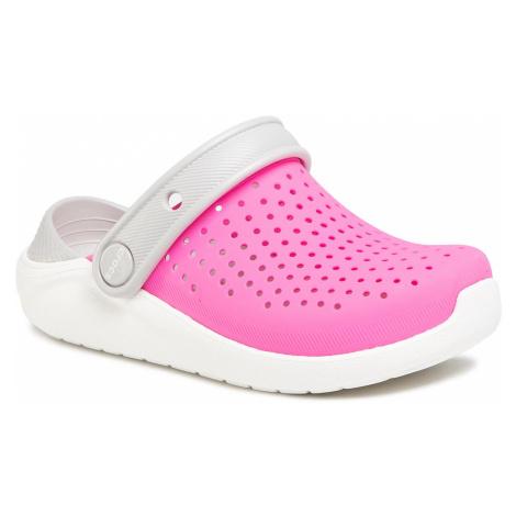 Klapki CROCS - Literide Clog K 205964 Electric Pink/White