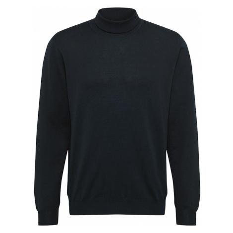 OLYMP Sweter 'Strick Modern Fit' czarny