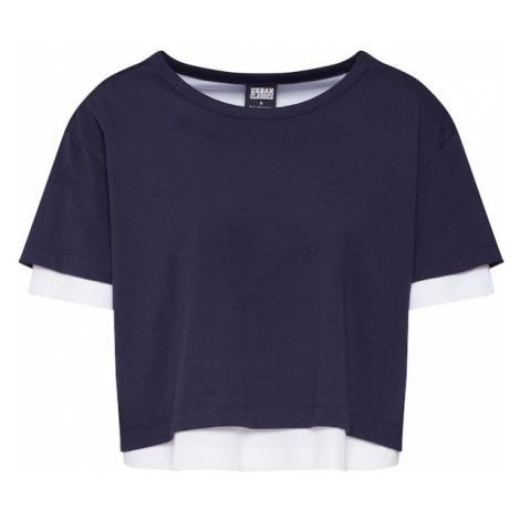 Urban Classics Koszulka niebieski / ciemny niebieski / biały