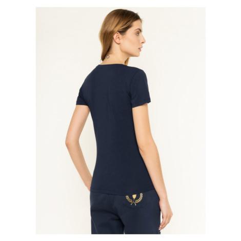 Trussardi Jeans T-Shirt 56T00224 Granatowy Slim Fit
