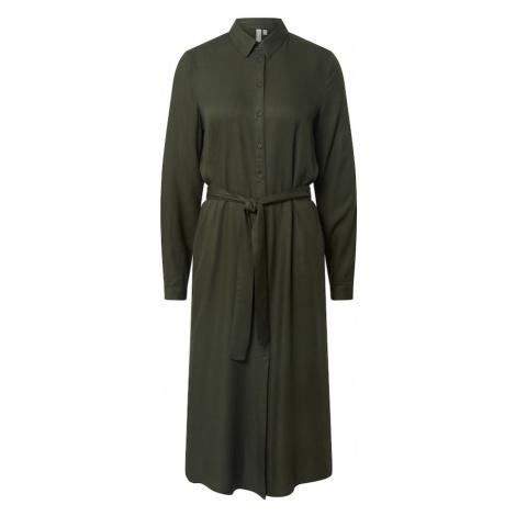 PIECES Sukienka koszulowa 'Barbel' ciemnozielony
