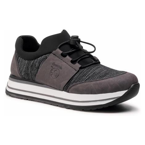 Sneakersy RIEKER - N3578-45 Grau Kombi