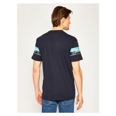 Tommy Jeans T-Shirt Double Stripe Logo DM0DM07862 Granatowy Regular Fit Tommy Hilfiger