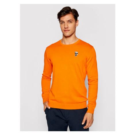 KARL LAGERFELD Sweter 655008 511398 Pomarańczowy Regular Fit
