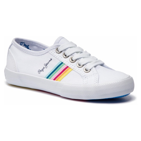 Tenisówki PEPE JEANS - Baker Tape PGS30383 White 800
