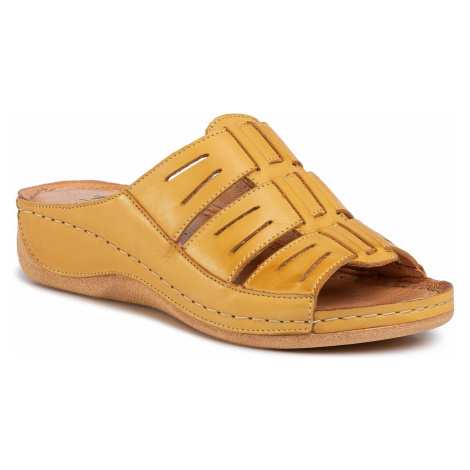 Klapki POLLONUS - 5-1101-004 Żółty