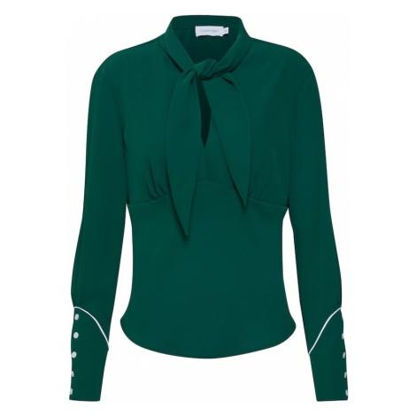 Calvin Klein Bluzka 'BOW TIE BLOUSE LS' zielony / biały