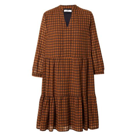 ONLY Sukienka koszulowa 'Filia' brązowy / pomarańczowy