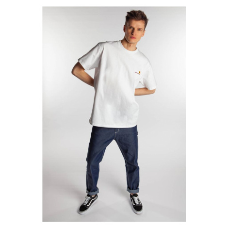 Koszulka Carhartt Wip American Script T-Shirt 0200 Dark Teal