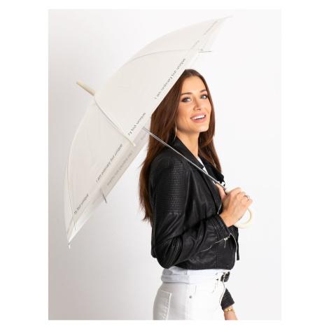 Półautomatyczny parasol Ecru z napisem