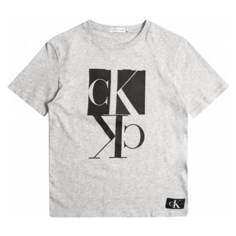 Calvin Klein Jeans Koszulka 'MIRROR' nakrapiany szary