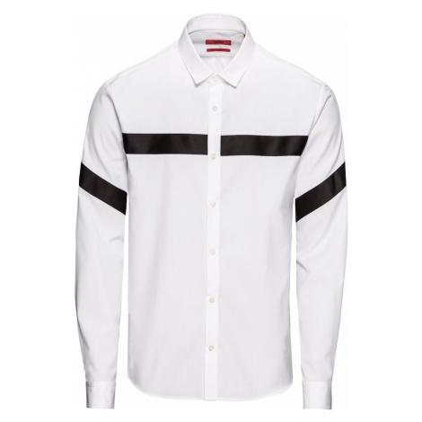 HUGO Koszula 'Enian 10107897 01' czarny / biały Hugo Boss