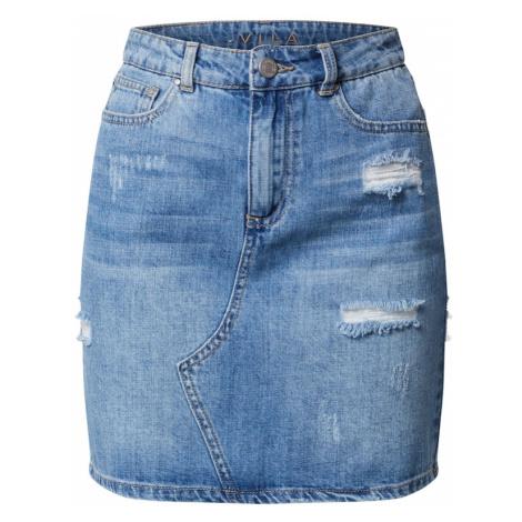 VILA Spódnica 'ROSABELL' niebieski denim