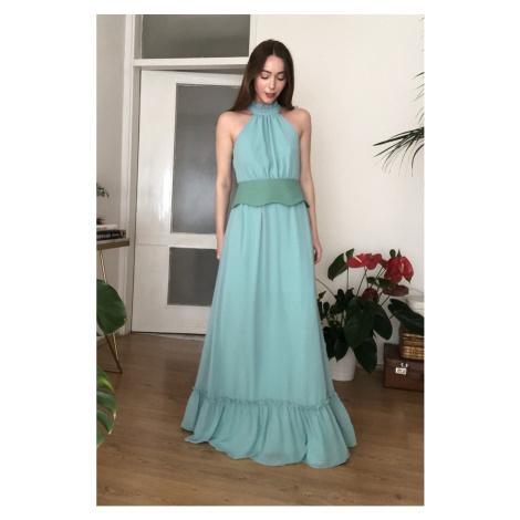 Trendyol Mint Arched Evening Dress & Graduation Dress